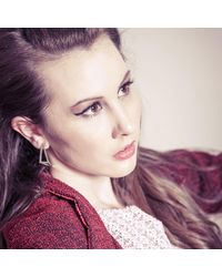 Stephanie Bates - Metallic Silver Inverted Half Kite Earrings - Lyst