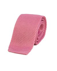 40 Colori | Pink Solid Silk Knitted Tie for Men | Lyst