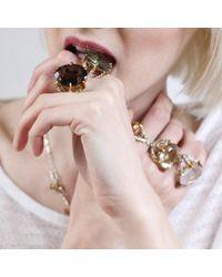 Tessa Metcalfe | Metallic Smokey Quartz Deborah Ring | Lyst