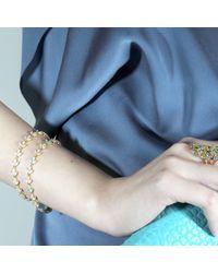 Cielle   Blue Pastel Spring Leaves Bracelets   Lyst