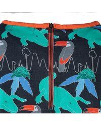 McIndoe Design - Blue Tropical Print T-shirt Dress - Lyst