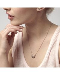 Essentia By Love Lily Rose - Metallic Arrow Necklace Rose Gold - Lyst