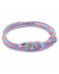 Anchor & Crew | Project-rwb Red White & Blue Dundee Silver And Rope Bracelet for Men | Lyst