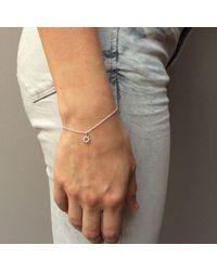 Agnes De Verneuil - Metallic Silver Bracelet Tiny Sun - Lyst