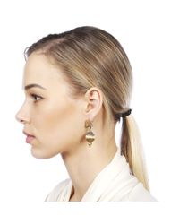 Carousel Jewels - Metallic Silver & Gold Mix Peacock Earrings - Lyst