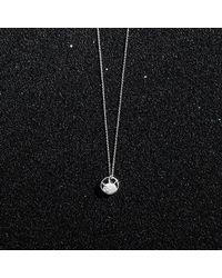 KIND Jewellery - Metallic Silver Mini Soleil Disc Necklace - Lyst