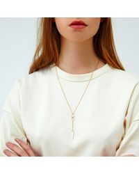 Alison Fern Jewellery - Metallic Waldon Gold Spike Pendant Necklace - Lyst