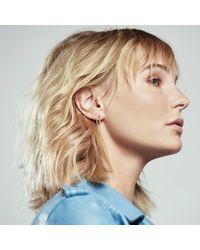 Lee Renee Metallic Hoop & Chain Single Earring Silver
