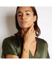 Loveness Lee - Metallic Cairn Chunky Gold Statement Bracelet - Lyst