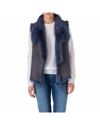 Gushlow and Cole Blue Denim Knit Back Gilet