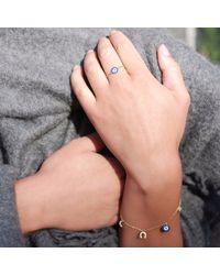 Talia Naomi Metallic See No Evil Charm Bracelet Gold