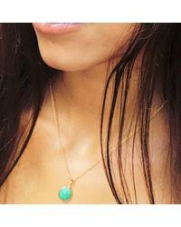 Puck Wanderlust - Metallic Chrysoprase Gold May Birthday Charm Necklace - Lyst