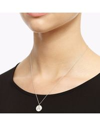 Myia Bonner Metallic Silver Facett Initial Necklace A-z