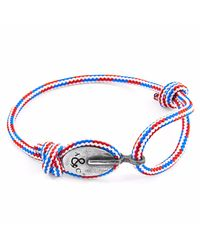 Anchor & Crew - Multicolor Project-rwb Red White & Blue London Silver And Rope Bracelet for Men - Lyst