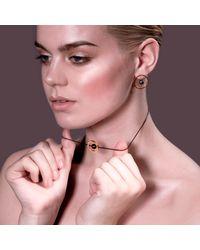Cara Tonkin | Black Orbit Halo Front & Back Earrings Oxidised Silver | Lyst
