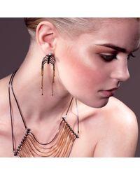 Cara Tonkin - Metallic Orbit Comet Interchangeable Tassel & Stud Earrings Silver - Lyst