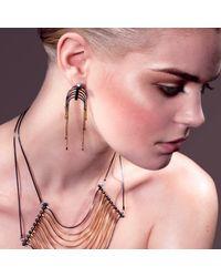 Cara Tonkin - Metallic Orbit Comet Interchangeable Tassel & Stud Earrings Gold - Lyst