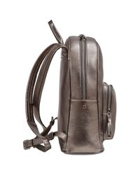 Fonfique - Metallic Laila Backpack Leaf Platinium - Lyst