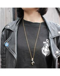 Hjälte Jewellery - Metallic Gold Honey Bee Necklace - Lyst