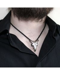 Hjälte Jewellery - Metallic Goat Skull Pendant for Men - Lyst