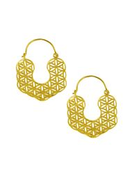 Ottoman Hands - Metallic Kaleidoscope Filigree Hoop Earrings - Lyst