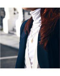 Sonal Bhaskaran - Black Reya Ruthenium Paisley Necklace Spinel - Lyst