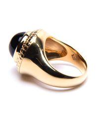 Puck Wanderlust | Metallic Gold Black Onyx Power Ring | Lyst