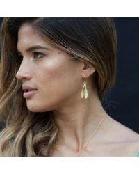 Catherine Zoraida Metallic Double Leaf Earring