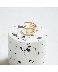 KIND Jewellery - Metallic Gold Eclipse Ring - Lyst