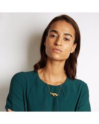 Loveness Lee - Metallic Amia Dainty Small Natural Inline Necklace - Lyst