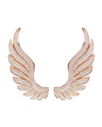 Latelita London - Multicolor Gabriel Angel Wing Ear Climber Rosegold - Lyst