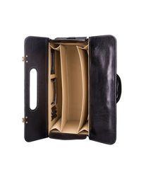 Maxwell Scott Bags - Luxury Italian Leather Pilot Case Varese Night Black for Men - Lyst