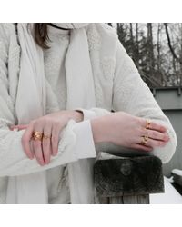 MARIE JUNETM Jewelry - Metallic Coil Gold Ring - Lyst