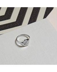 Myia Bonner Metallic Initial R Silver Edwardian Signet Ring