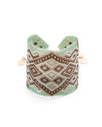 Azuni London | Multicolor Azteca Wide Toggle Cuff In Mountain | Lyst