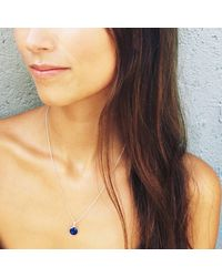 Puck Wanderlust - Metallic Lapis Lazuli Silver September Birthday Charm Necklace - Lyst