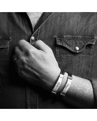 Alrún Nordic Jewelry - Gray Luck Gæfa Bindrune Bracelet for Men - Lyst