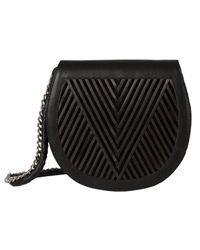 lyst lili radu saddle bag v in black. Black Bedroom Furniture Sets. Home Design Ideas