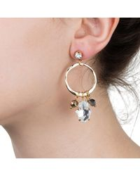 Nadia Minkoff - Metallic Hamsa Earring Gold - Lyst