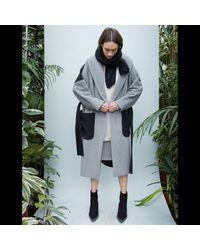D.Efect - Gray Cari Coat - Lyst