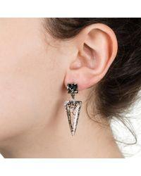 Nadia Minkoff Crystal Shard Earring Black Patina & Black Diamond