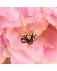 Miss High & Low - Metallic The Swarovski Shining Necklace Gold - Lyst