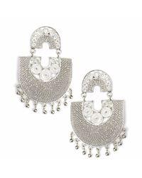 Kitik Jewelry Metallic Sairi Silver Earrings