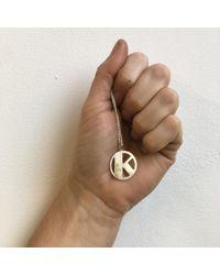 Alice Eden - Metallic Gold Deco Initial K Pendant Necklace - Lyst