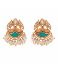 Carousel Jewels - Blue Turquoise And Mother Of Pearl Earrings - Lyst