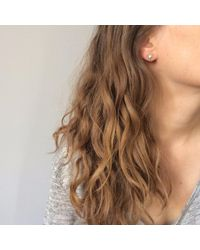 Agnes De Verneuil - Metallic Gold Stud Earrings Large Heart - Lyst