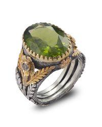 Emma Chapman Jewels   Green Orisha Peridot & Diamond Ring   Lyst