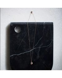KIND Jewellery - Metallic Rose Gold Mini Demi Lune Disc Necklace - Lyst