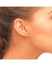 Latelita London Pink Cosmic Triangle Stud Earring Rosegold