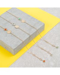 Auree Jewellery - Metallic Bali 9ct Gold July Birthstone Bracelet Carnelian - Lyst